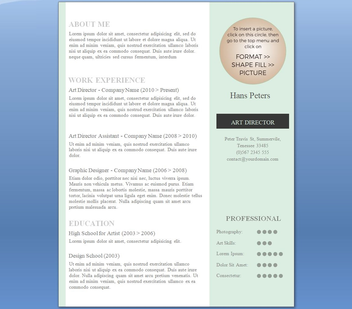 Career guidance xpressjobs elegant one one page cv format thecheapjerseys Images